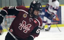 Chatham Maroons forward Maddux Rychel. November 24, 2018. (Photo by Matt Weverink)