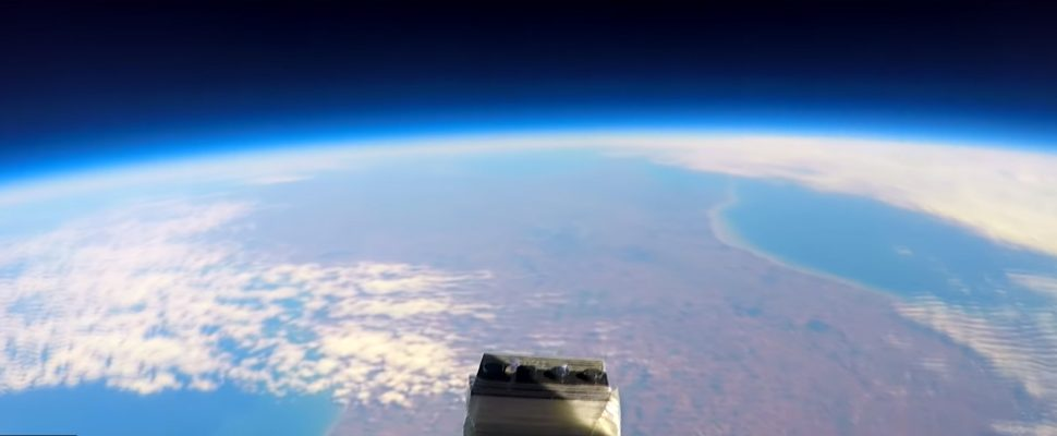 Screen capture from Britt Stek's video of a wizards journey via weather balloon to space. November 28, 2018. (Picture courtesy of Brian Stek's YouTube channel)