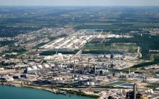 Aerial photo of Imperial Oil Sarnia Refinery. Photo courtesy of Imperial Oil.