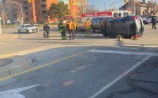 A two-vehicle collision that took place in downtown Windsor on December 16, 2018. Photo courtesy Jana Lynn Facebook)