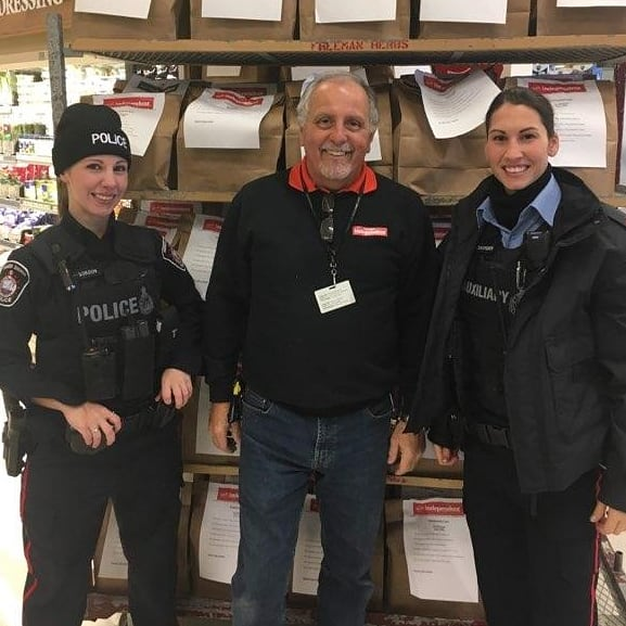 Generous donors at Saugeen Shores Police food drive