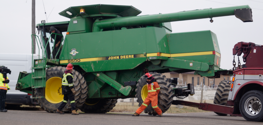 Combine damaged in Sarnia crash