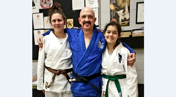 (From left to right) Elysia Cornish, Sensei Keven Walsh and Maria Arvanitis. (submitted photo)