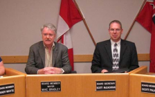 Mayor Mike Bradley and Scott McEachran. June 2015. (Photo by the City of Sarnia)