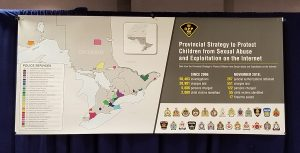 Police news conference into online sexual child abuse in the province. December 5, 2018 Photo courtesy of Ontario Provincial Police.