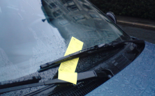 Parking ticket in Oslo, Norway. 6 August 2008. (Photo by ThorRune)