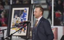 Steven Stamkos at Progressive Auto Sales Arena Jan. 12, 2018 for jersey retirement (Photo courtesy of Metcalfe Photography)