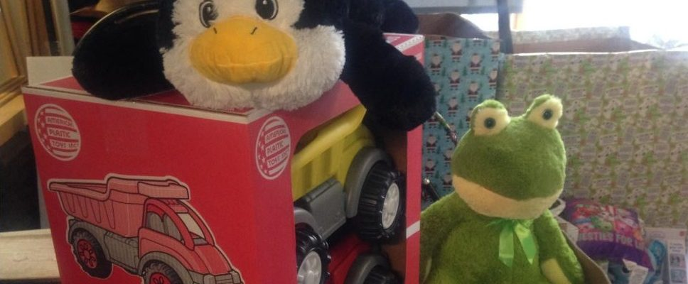 Toys donated to the Wonderland Toy Drive-Thru. (Photo by Adelle Loiselle)