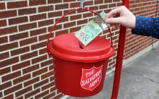 Salvation Army Kettle. (Photo by Matt Weverink)