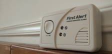 CO Alarm sitting on a ledge. (Photo by Abi Begum from alarms4life.com)