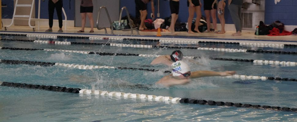 Swimmers taking part in the LKSSAA Swimming Championship from the Sarnia YMCA. January 17, 2019. (Photo by Colin Gowdy, BlackburnNews)