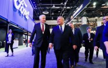 Ontario Premier Doug Ford attends the North American International Auto Show in Detroit on January 14, 2019 to meet with auto industry leaders. (Photo courtesy of Doug Ford via Twitter)