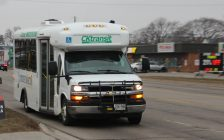 Stock photo of CK Transit bus going down Keil Drive. January 15, 2018. Photo by Greg Higgins)