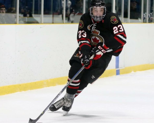 Winger Josh Barraclough with the Sarnia Legionnaires. (Photo courtesy of the Sarnia Legionnaires)