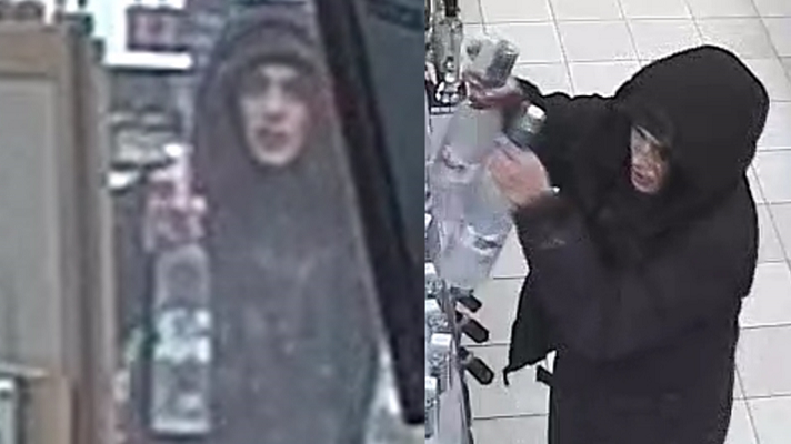 Surveillance images of a New Year's Day robbery at the LCBO at 348 Clarke Rd., January 1, 2019. Photos courtesy of London police.