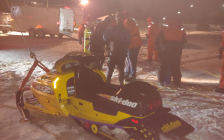 The St. Clair County Sheriff Office's Dive Team pulls a snowmobile from Black River. January 20, 2019. (Photo by the Sheriff's Office)