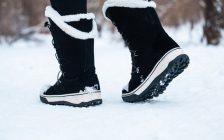 File photo of person walking in the snow courtesy of © Can Stock Photo / AMBERLIGHTPHOTO