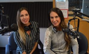 Kendall Malewicz of Mix 96.7 FM and Morgan Ryan of Country 95.9 FM. (Photo by Adelle Loiselle)