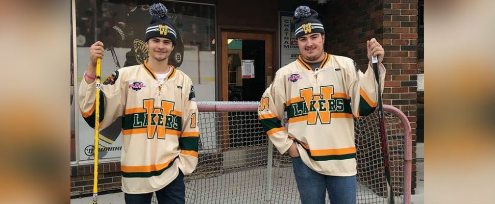 Special jerseys will be worn by the Wallaceburg Lakers for their outdoor game against Amherstburg in Windsor on January 12. (Photo courtesy of Darryl Lucio, President of Hockey Operations for the Wallaceburg Lakers)