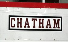 Chatham Maroons home bench. (Photo by Matt Weverink)