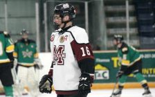 Chatham Maroons forward Griffin Robinson. January 2019. (Photo by Matt Weverink)