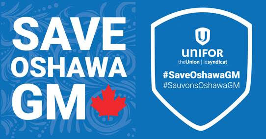 Save Oshawa GM. Jan 7, 2019. (Photo courtesy of Unifor Canada)