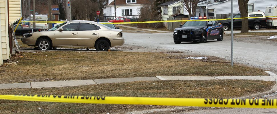 Chatham-Kent police at the scene of a serious incident investigation in Wallaceburg. February 26, 2019. (Photo by Greg Higgins)