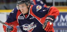 Tyler Angle of the Windsor Spitfires. (Photo courtesy of Terry Wilson / OHL Images.)