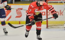 Aidan Dudas of the Owen Sound Attack. Photo by Terry Wilson / OHL Images.