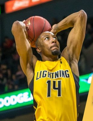 Marcus Capers of the London Lightning. (Photo courtesy of the London Lightning via Twitter)