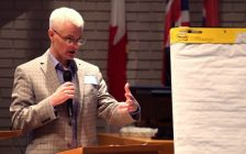 The general manager of community development in Chatham-Kent, John Norton, speaks during an open house about development red tape , February 13, 2019. (Photo courtesy of CK Economic Development Services via Twitter)