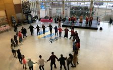 The University of Windsor has honoured missing and murdered Indigenous women with a ceremony. Feb 14, 2019. (Photo by Paul Pedro)