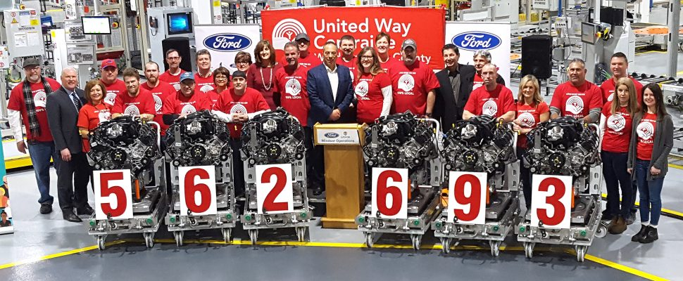 Ford donated $562,693 to the United Way of Windsor-Essex County. Feb 7, 2019. (Photo courtesy of Ford)