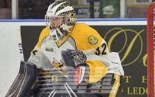 Cameron Lamour of the Sarnia Sting. Photo by Terry Wilson / OHL Images.