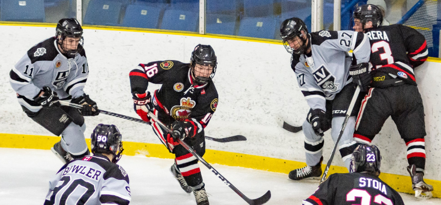 The Sarnia Legionnaires face the LaSalle Vipers - Feb 21/19 (Photo courtesy of Shawna Lavoie)