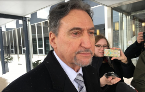 Attorney Patrick Durcharme outside the Sarnia courthouse. February 13, 2019. (Photo by Colin Gowdy, BlackburnNews)