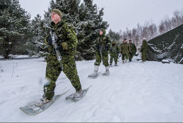Canadian army doing winter training. Photo courtesy of the Canadian Armed Forces.