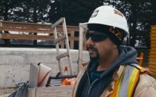 A screenshot of a Spotlight on Skilled Trades video featuring Nuno Meca, an ANSI certified training instructor with LiUNA! Local 625, courtesy of Workforce WindsorEssex.