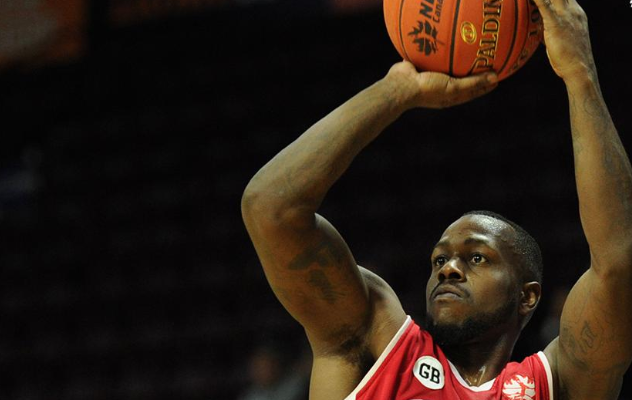 Chris Jones of the Windsor Express in action against the St. John's Edge at the Mile One Centre in St. John's on February 17, 2019. Photo courtesy of Windsor Express/Twitter.