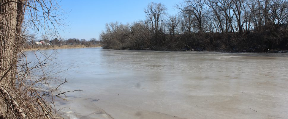 The Thames River on Tuesday, March 12, 2019 (Photo by Allanah Wills)