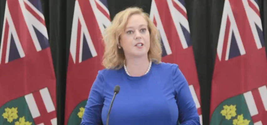 Minister of Children, Community and Social Services Lisa MacLeod announces enhancements to Ontario Autism Program, March 21, 2019. Screen capture from Twitter.