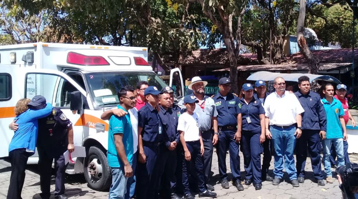 A Lambton EMS ambulance donated to the Bomberos of Nicaragua. March 4, 2019. (Photo from Lambton EMS)