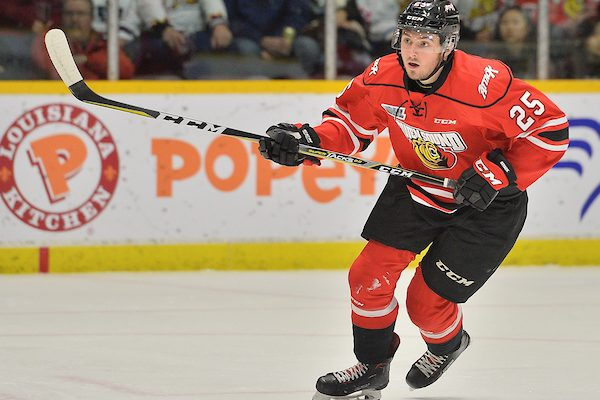 Cade Robinson of the Owen Sound Attack. Photo by Terry Wilson / OHL Images.