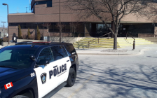 Sarnia Police cruiser outside police headquarters. March 2019. (Photo by Colin Gowdy, BlackburnNews)