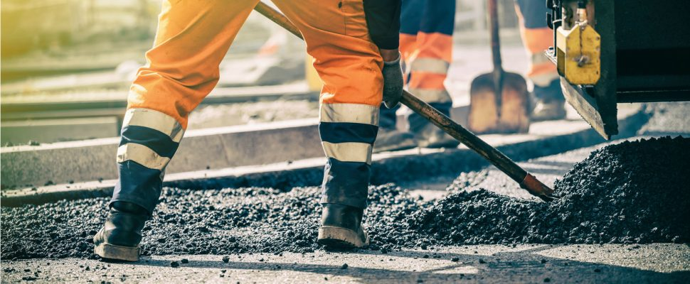 Road construction (Photo courtesy of © Can Stock Photo / blasbike)
