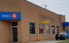Exmouth Street Bank of Montreal. April 18, 2019. (Photo by Stephanie Chaves, BlackburnNews)