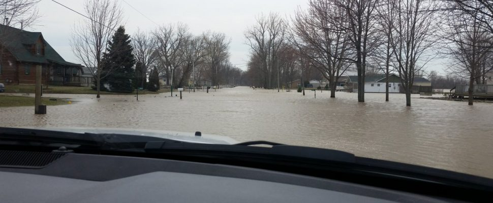 The Essex Region Conservation Authority has issued a flood warning until Saturday. Apr 11, 2019. (Photo courtesy of ERCA)