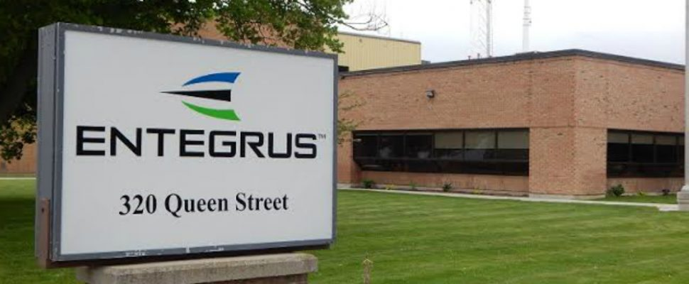 Head office of Chatham-Kent electrical utility Entegrus May 19 2015 (Photo by Simon Crouch)