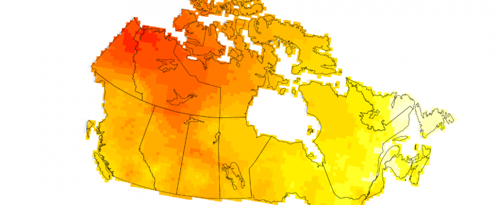 Canada is warming up about twice as fast as the rest of the world. Apr 1, 2019. (Photo courtesy of Environment and Climate Change Canada)