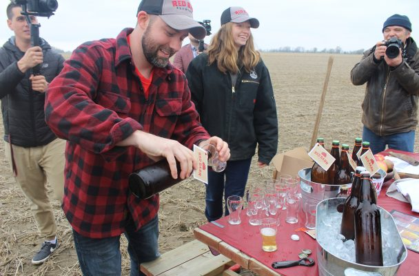 Groundbreaking ceremony at Red Barn Brewing Company in Blenheim on Tuesday, April 30, 2019. (Photo by Allanah Wills)